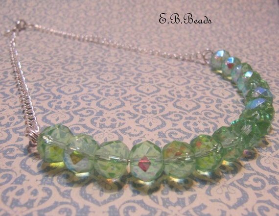 Shimmering Green Necklace