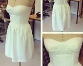 Polka Dot Bustier Dress (fully lined)