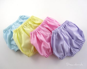 Toddler Diaper Covers - Toddler Size Baby Bloomers - Pick Your Favorite Pastel Color - Choose Size 18  Months, 2T, or 3T