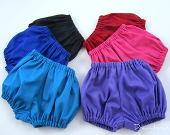 Toddler Diaper Covers - Toddler Size Baby Bloomers - Pick Your Favorite Primary Color - Size 18 Months, 2T, or 3T