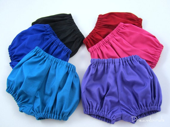 Infant Diaper Cover - Baby Bloomers - Pick Your Favorite Primary Color - Size Newborn, 3 Months, 6 Months, 9 Months, or 12 Months