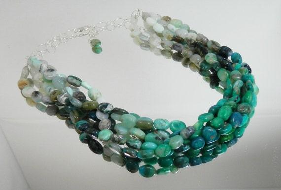 Breaking Waves VII- Peruvian Blue Opal