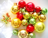 Charming Lot of Vintage Christmas Mini Ball Ornaments - Sweet Grinch Stole Christmas Mix