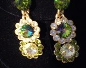 Spectacular MINT 1950s Rivoli Rhinestone Drop Earrings