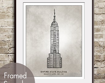 Empire State Building- Landmarks (Artist Sketchpad Collection) Art Print (Buy 3 and get One Free)
