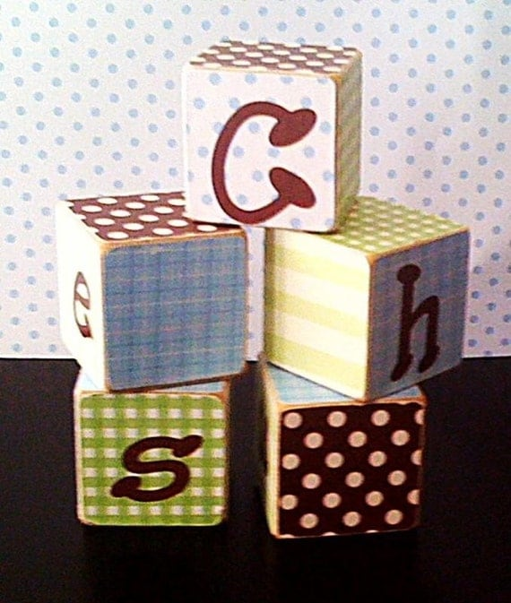 Wooden personalized blocks, custom gift, learning manipulative, learning toy, personalized name gift, kids gift , photo prop, boy or girl