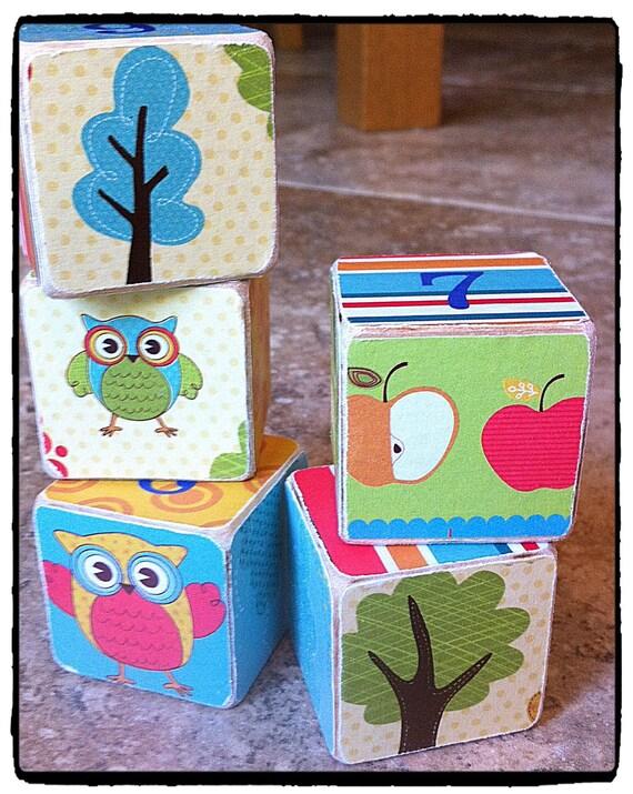 baby name wood blocks - personalized kids room decor - custom wall nursery decor - kids name blocks - personalized baby shower decor