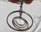 Vintage norwegian sterling multi hoops earrings - screw back