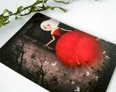 Red Bride Escape Postcard
