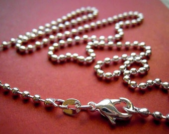 12 Silver plated 16 inch Ball Chains -  FAST SHIPPING