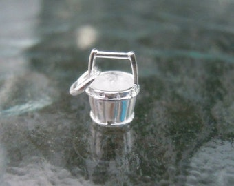 SALE - Sterling Silver Bucket Charm or Pendant