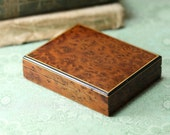 Vintage Midcentury Walnut Cigarette Case