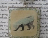 Honey Badger and Rhinoceros Beetle: 2-Sided Pendant of Tenacity and Strength