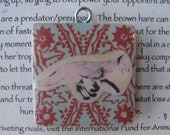 Red Fox And Brown Hare: 2-Sided Pendant of Strategy, Confidence and Rivalry