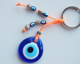Evil Eye Handmade Glass Bead Key Chain