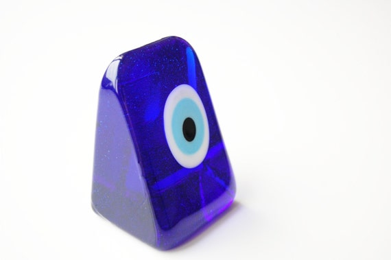 Prism Glass Evil Eye Paperweight