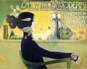 18x24 Vintage French Advertisements La Maison Moderne Poster. Art Nouveau -021