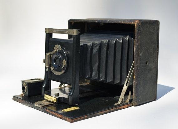Seneca No. 1 5x7 folding plate camera, for repair or display only