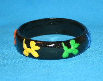 Balloon Dog Rainbow Bangle Bracelet Balloon Animal Jewelry
