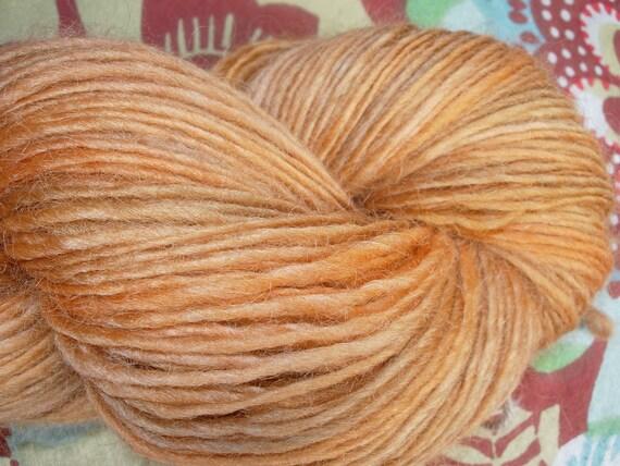 Handspun Wensleydale singles yarn