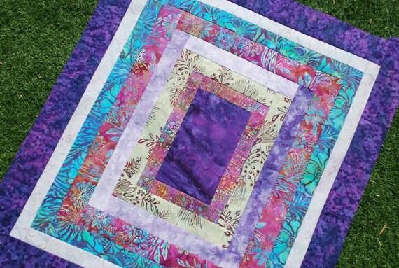 DESIGNER Pram/Stroller Blanket. Unique design, Elaborate top-stitching, Minky fleece on back 30x34. QUILTED