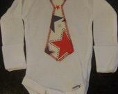 All-Star Lil' Man Tie  Long Sleeve Onesies