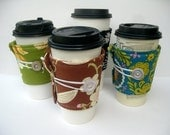 FREE SHIPPING - Coffee Cup Cozy Bundle - Buy 4 and SAVE
