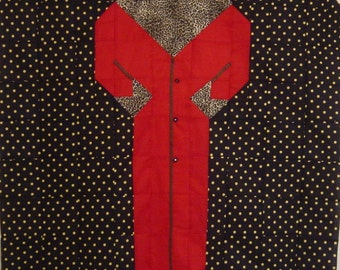 CHIC RED COAT- Quilt/Wall Hanging - Pattern Only