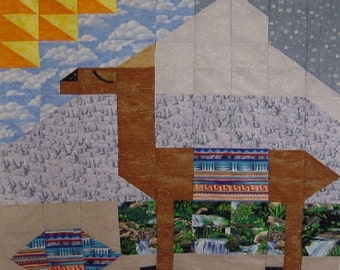DOLLY LLAMA- Quilt/Wall Hanging - Pattern Only