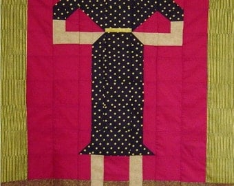 LITTLE BLACK DRESS- Quilt/Wall Hanging - Pattern Only