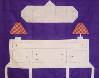 SHABBY WHITE BUFFET- Quilt/Wall Hanging - Pattern Only