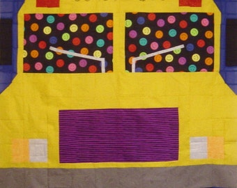 SCHOOL BUS- Quilt/Wall Hanging - Pattern Only