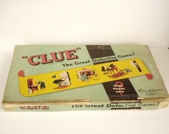 vintage board game clue 1949 - COMPLETE -