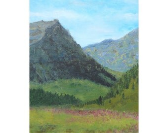 20 x16 Great Divide Original Acrylic Landscape