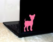 Small Dog, pink, vinyl decal- free shipping