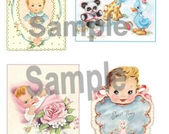 Vitnage Baby Collage Sheet BBY6 Digital, download, printable DIY