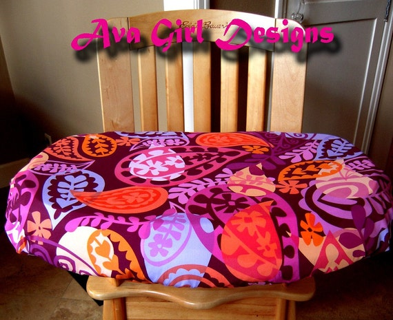 Items Similar To Clearance Sale Item High Chair Tray Cover Maroon Orange An