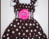 After 4th of JULY SALE Custom Boutique Clothing Fall Sassy Flower Jumper Dress
