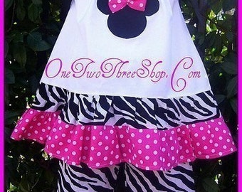 Custom Boutique Clothing Minnie Top and Capris Set