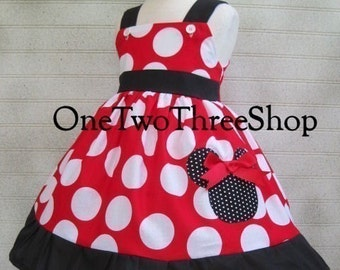 Minnie Mouse dress jumper style dressup vacation girl red