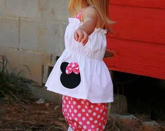 Minnie mouse Bloomers Custom Boutique Clothing Bloomers and Top set