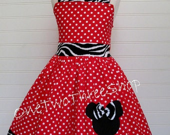 Custom Boutique Clothing Minnie Mouse Dress