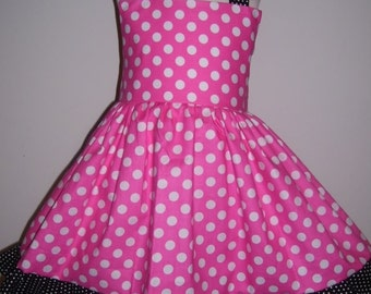 Custom Boutique Hotpink Jumper Dress 12m 18m 2T 3T 4T 5 6 Years