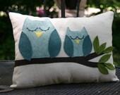 Sleepy Owls Pillow