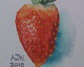 a sweet strawberry size 6inx4.5in 15cmx12cm
