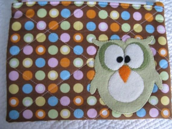 Owl Zipper Bag