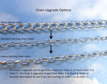 Sterling chain upgrade for RowanOliviaJewelry bracelets