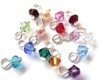 Swarovski crystal drop add on for RowanOliviaJewelry charm bracelets