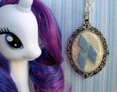 Rarity's Diamond Cutie Mark Cameo Necklace - Element of Generosity