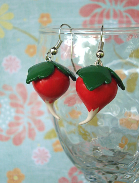 radish earrings dirigible plum radish earrings 3802